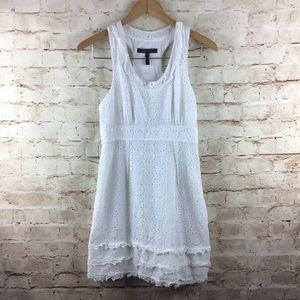 BCBGMaxAzria Silk Blend White Eyelet Dress 4
